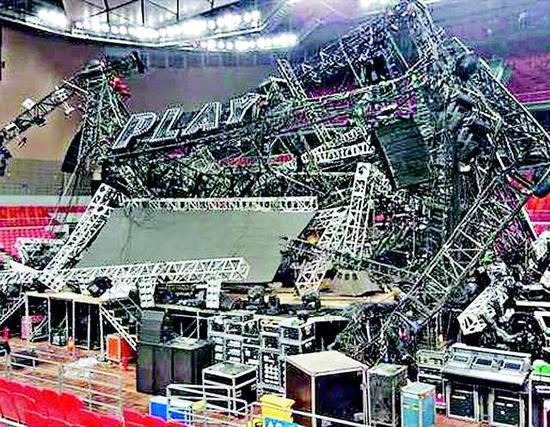 蔡依林世界巡回演唱会南宁站舞台事故现场