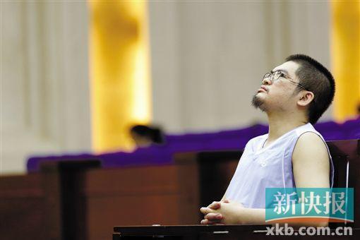 此前被判死缓的陈灼昊在庭审过程中。 通讯员供图