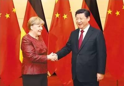 图为:2015年10月29日,国家主席习近平在北京钓鱼台国宾馆会见德国总理默克尔。