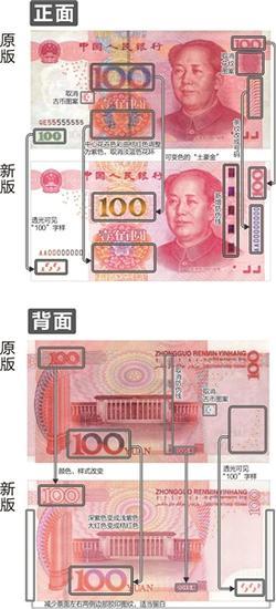 新版100元人民币11月12日发行 网友称土豪金版人民币(图)