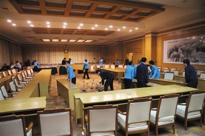 2015年3月6日,北京,国谊宾馆会议厅。该宾馆隶属于国务院机关事务管理局宾馆管理中心。图/CFP