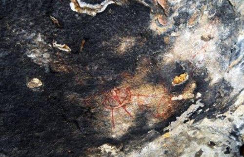 印度洞穴壁画 图片来源:晶报