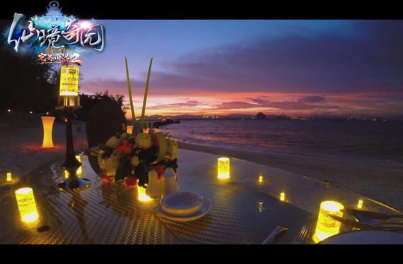 蜈支洲岛浪漫夜景