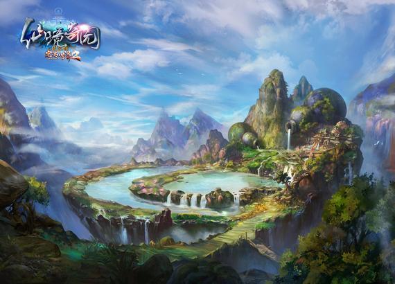"""《完美国际2》新版""""仙境奇园""""新副本原画"""