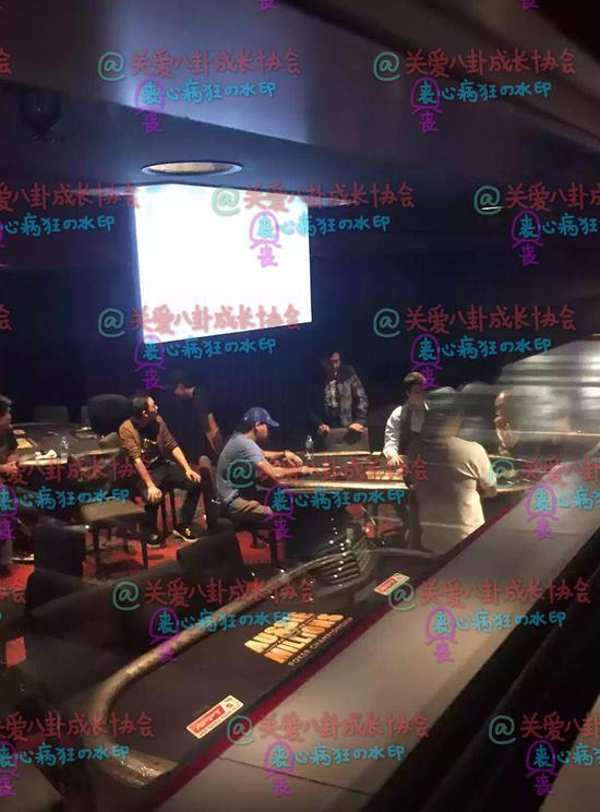 网曝汪峰现身墨尔本赌场