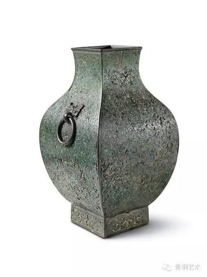 美国宾夕法尼亚大学博物馆藏 战国 错绿松石方壶