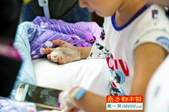 一男童发现父亲床底所藏枪 扣扳机走火击穿手掌(组图)