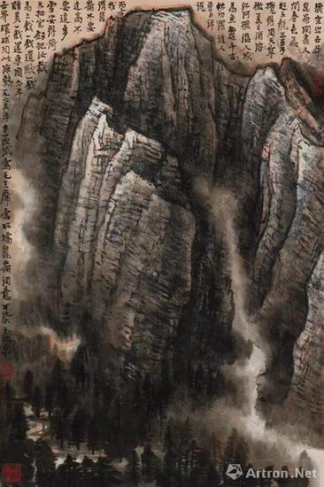 李可染 《昆仑雪山图》 1965 设色纸本,70.2×46.5cm