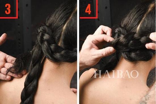 发型二:双辫式盘发图片