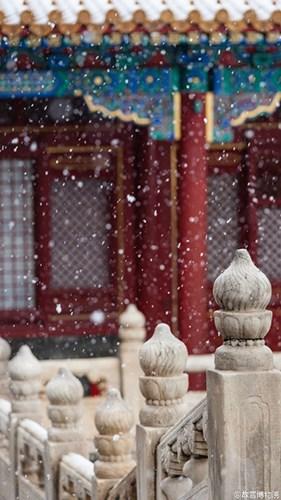 故宫雪景照。