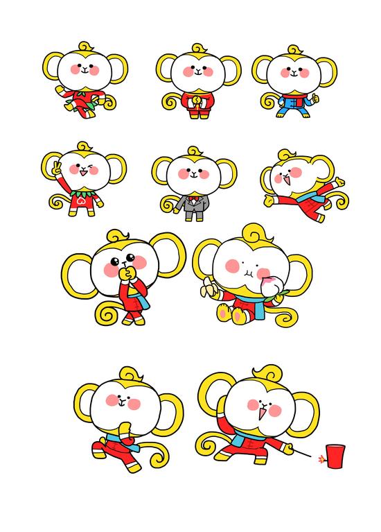 春晚18日发布吉祥物 千组萌猴竞 猴王