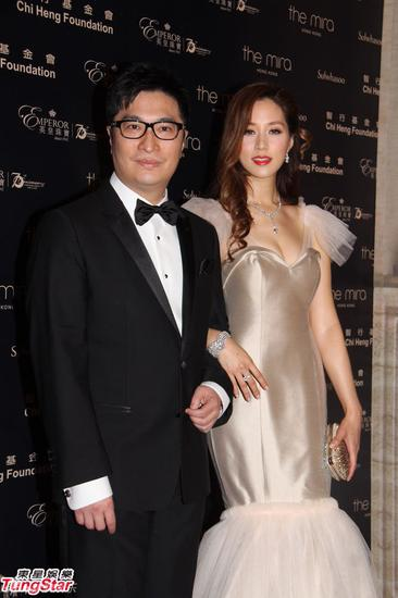 徐子淇以亲善大使身份与老公李家诚香港出席慈善活动