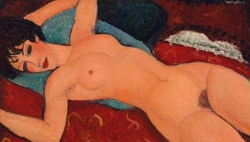 莫迪里阿尼 《侧卧的裸女》
