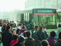 雪大路滑哈市公交车都挺慢 至少提前1小时出门