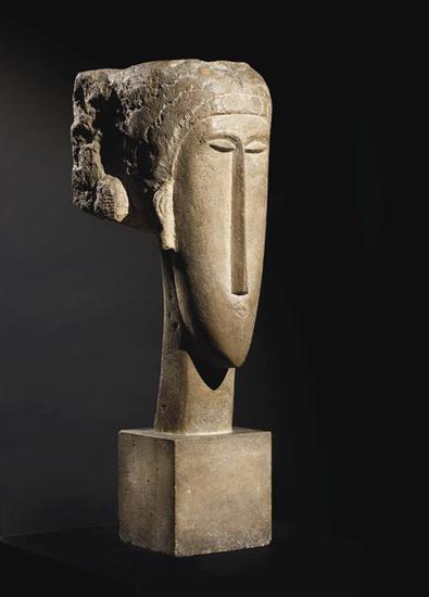 莫迪里阿尼的雕塑《Tête》,2014年以7070万美元成交