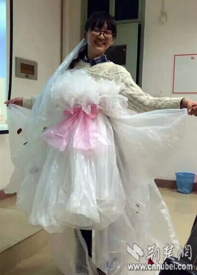 环保时装秀婚纱制作_
