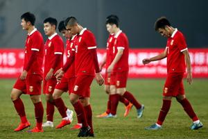 四国赛-托比森破门张玉宁造险 国奥0-1哥伦比亚