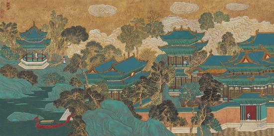 葛冠中,消夏图,69.5×141cm,纸本水墨,2015