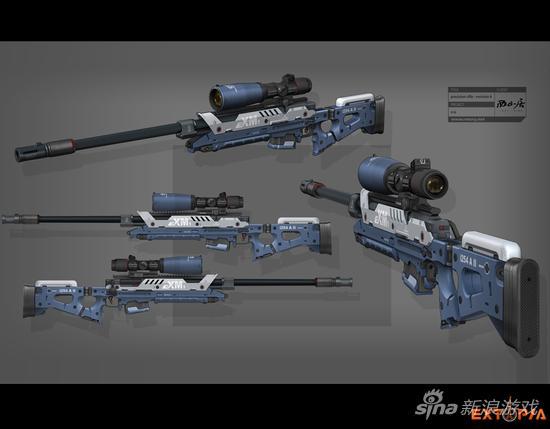 德国团队制作,Extopia武器枪械原画
