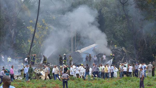 奇迹!古巴坠机事故三人生还!救援现场曝光