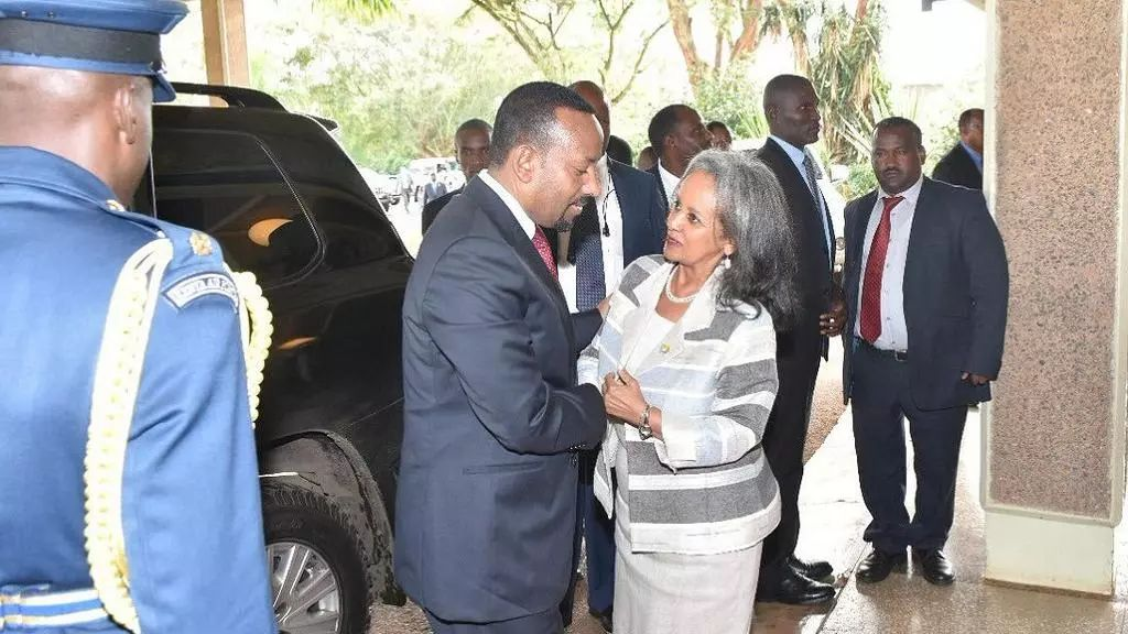 阿比总理(左)与祖德在内罗毕会面。