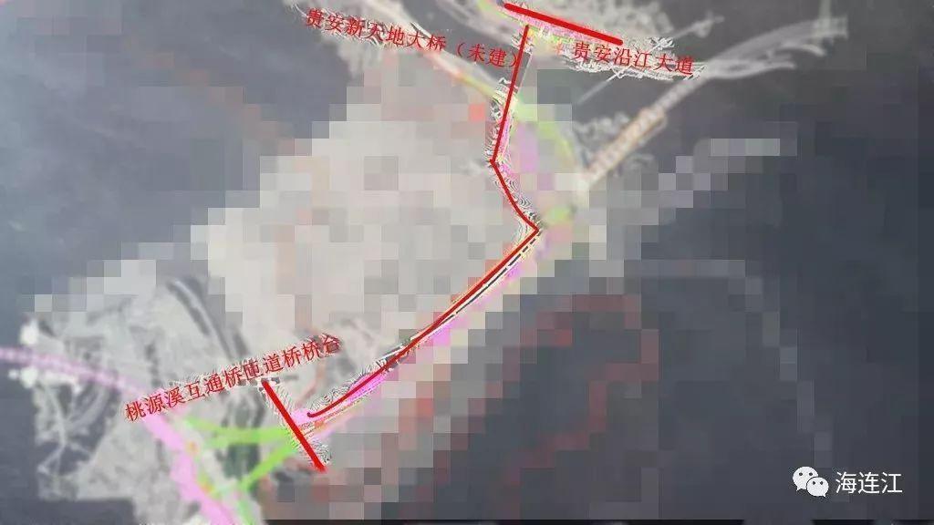 北二通道贵安连接线示意图(图源:海连江)