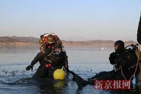 ▲消防演练冰上救人。 图/新京报网