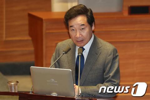 13日,韩国总理李洛渊在国会接受质询。(NEWS 1)
