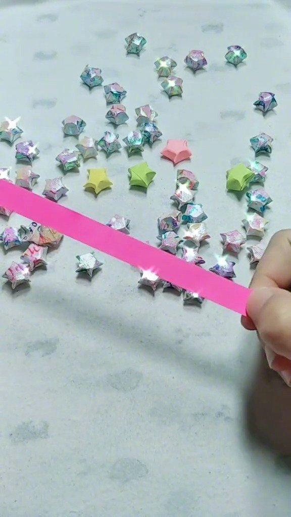 一闪一闪亮晶晶,满天都是小星星,星星折纸,,你学会了吗?