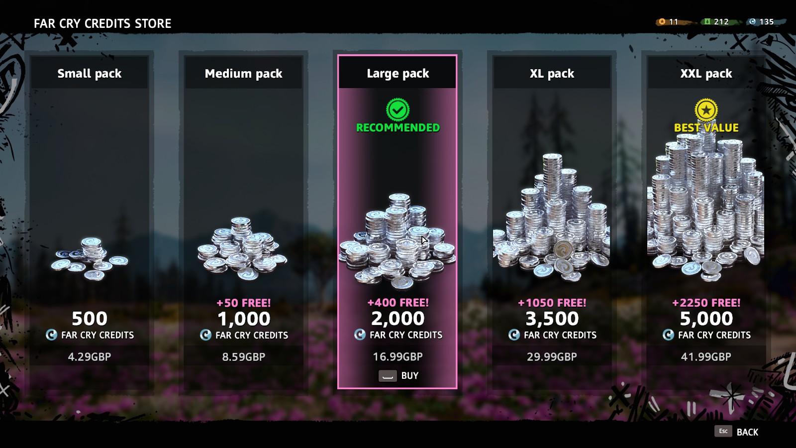 《孤岛惊魂:新曙光》氪金系统 不用开箱直接买素材