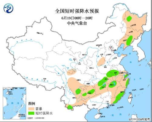 暴雨黄色预警发布 江汉黄淮等地部分地区有大到