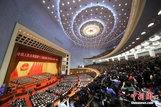 3月5日,十三届全国人大一次会议在北京开幕。中新社记者 杜洋 摄 阚枫 摄