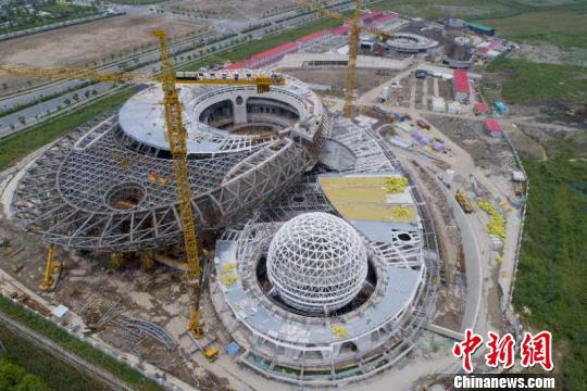 上海天文馆钢结构收尾 建成后将成全球建筑面积