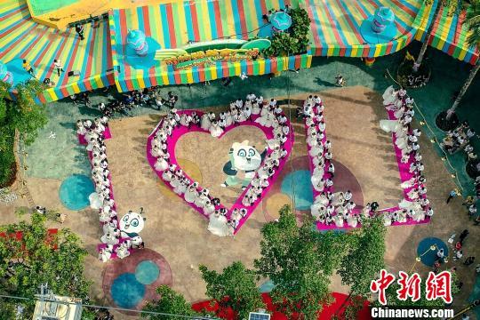 """百对新人在广州长隆举行集体婚礼 收获""""奇妙朋"""