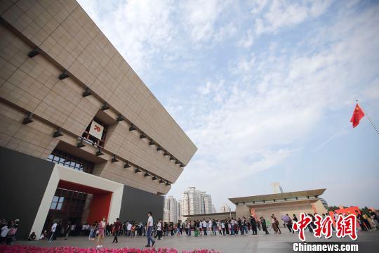 国庆假期 山西博物院迎来客流高峰