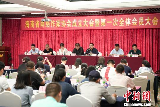 海南省网络作家协会成立 汤勇当选首任主席