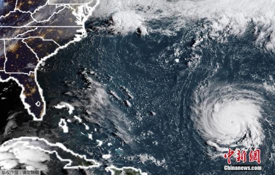 """四级飓风""""弗罗伦斯""""逼近美国 逾100万人被迫撤离"""