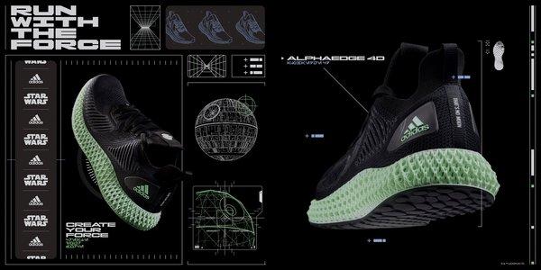 阿迪达斯推出新款ALPHAEDGE 4D星球大战主题系列跑鞋 | 美通社