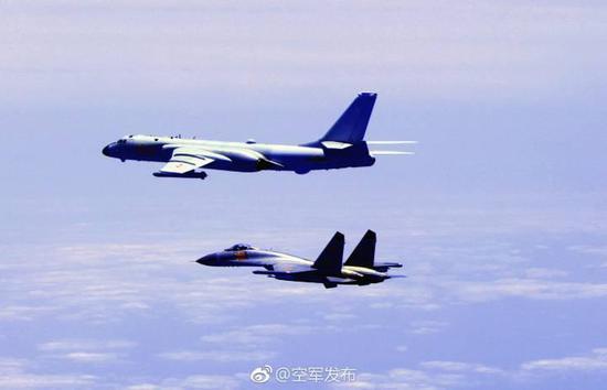 中方有能力维护国家主权和领土完整(图:空军发布)