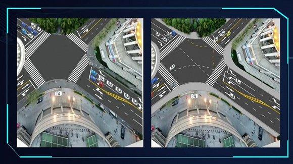 高德地图展示。路权分配调整。