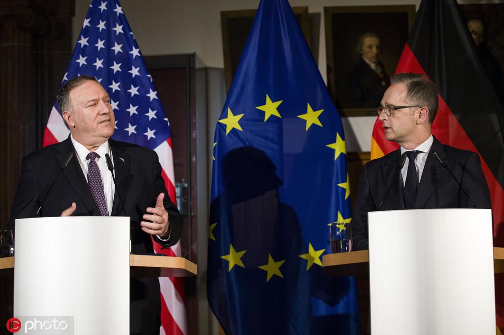 11月7日,美国国务卿蓬佩奥和德国外长马斯举行新闻发布会 @IC Photo