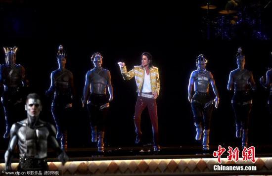 资料图片:迈克尔·杰克逊的全息影像。图片来源:CFP视觉中国