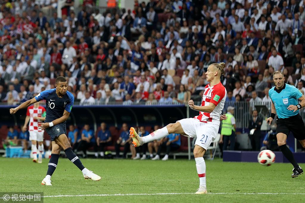 2018世界杯决赛 法国4-2克罗地亚获得冠军!