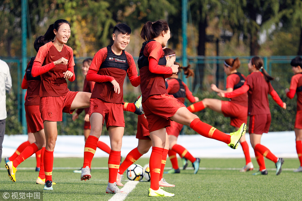 中国女足结束上海集训,明日出征关岛东亚杯预选赛