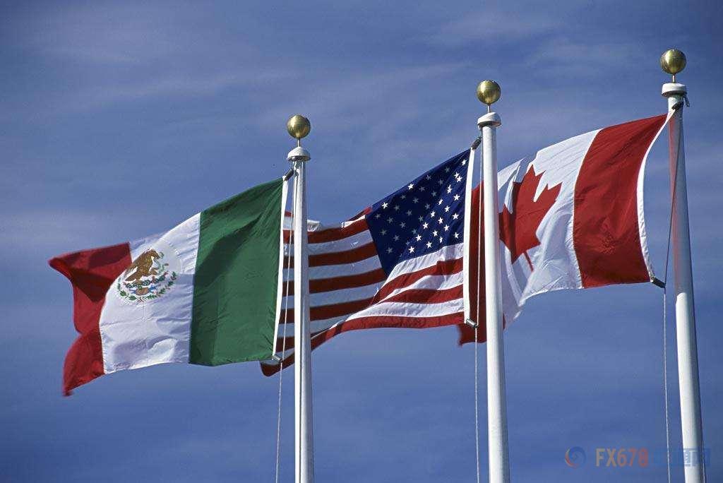 """倒""""V""""反转!北美自贸谈判一波多折,美元兑加元巨震150点不停歇北美自由贸易协定"""