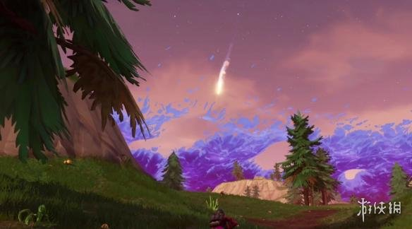 《堡垒之夜》天空惊现扫把星 或将坠落在倾斜塔?