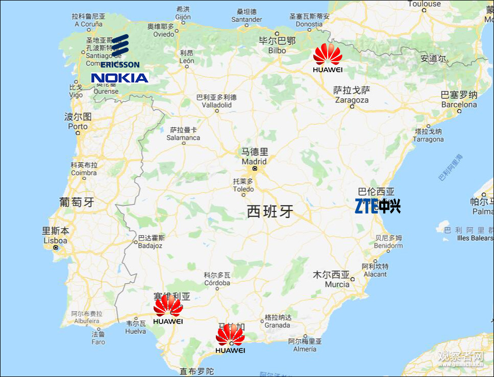 5G合作商测试地区示意图(仅本次申请)
