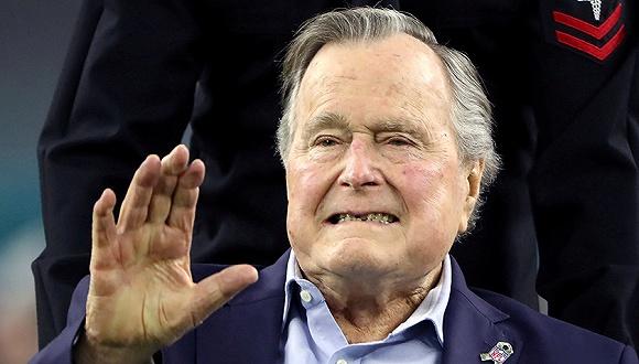 资料图:美国前总统老布什。图片来源:视觉中国