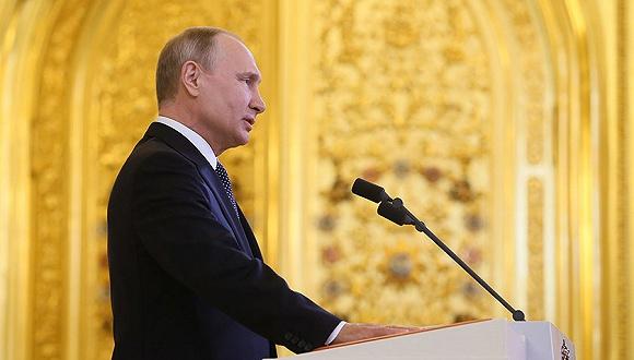 2018年5月7日,莫斯科,普京的就职典礼在克里姆林宫举行。图片来源:视觉中国