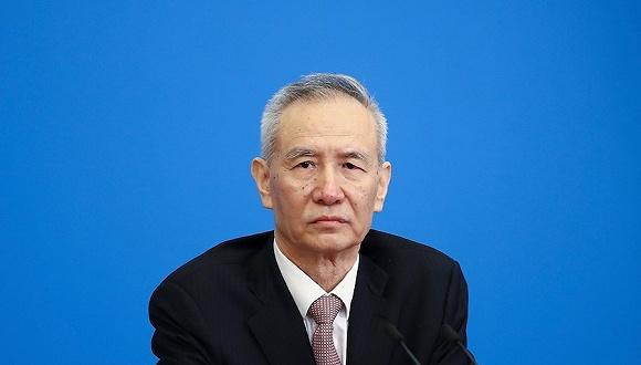 图为中共中央政治局委员、国务院副总理刘鹤。来源:视觉中国
